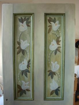interior door (lilies)
