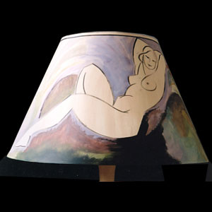 Bloomsbury inspired lampshade