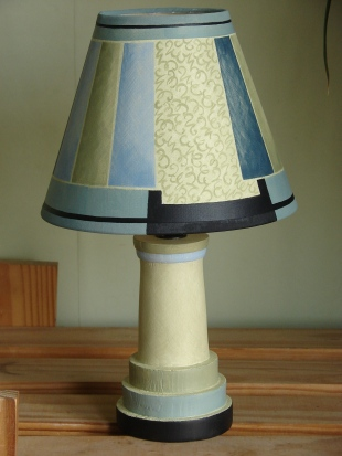 "MOSAIC BLUE Café Base: £58.00, 8"" empire shade £68.00"