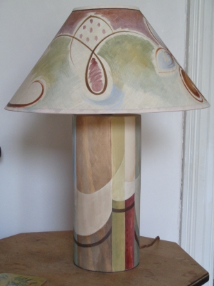 "BELL KENT Charleston Base £132.00, 16"" coolie shade £100.00"